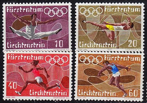 LIECHTENSTEIN [1972] MiNr 0556-59 ( O/used ) Sport