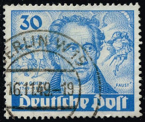 Germany #9N63 Goethe and Faust; Used (3Stars)  DEU9N063-01XRP