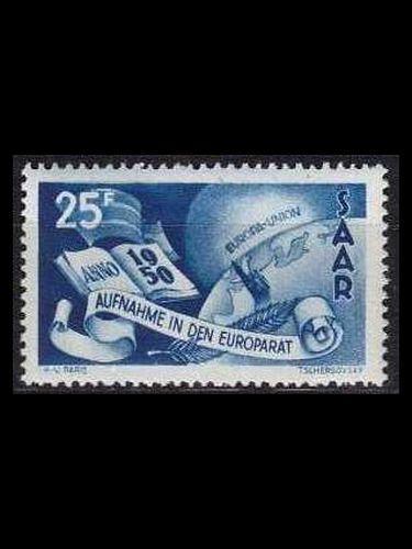 GERMANY Saar [1950] MiNr 0297 ( */mh )