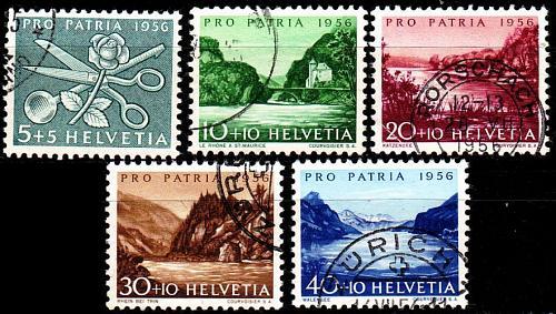 SCHWEIZ SWITZERLAND [1956] MiNr 0627-31 ( O/used ) [01] Pro Patria