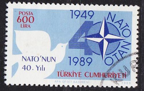 TÜRKEI TURKEY [1989] MiNr 2851 ( O/used ) NATO