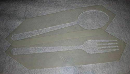 Fork and Spoon Stencil 2 Piece Set -14 Mil Mylar Quilting/ Sewing/ Painting/sten