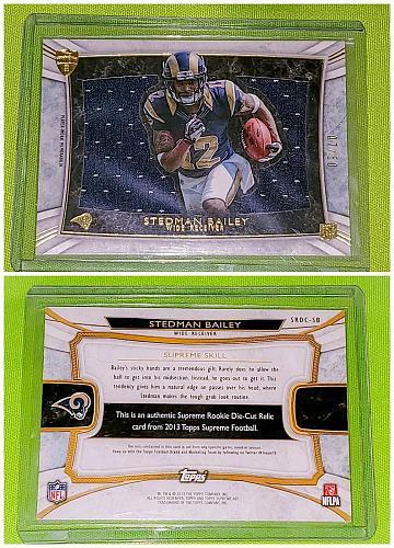 NFL Stedman Bailey Los Angeles Rams 2013 Topps Supreme Rookie Jumbo Jersey Sp/50
