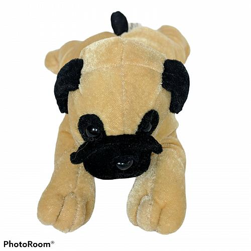 "Six Flags Texas St Bernard Puppy Dog Plush Stuffed Animal 8.5"""