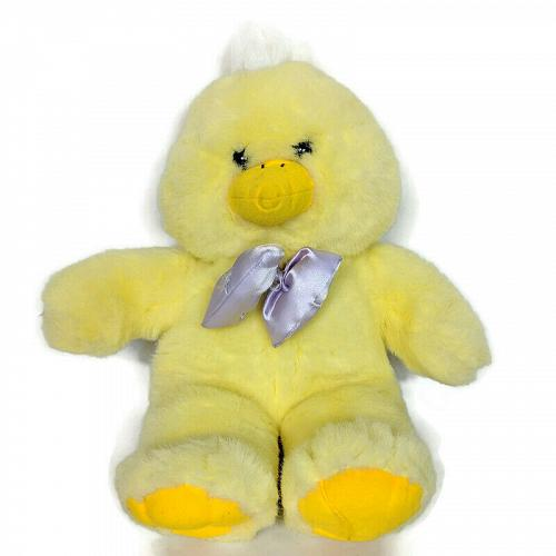 """Kids of America Yellow Duck Easter Spring Plush with Bow Stuffed Animal 16"""""""