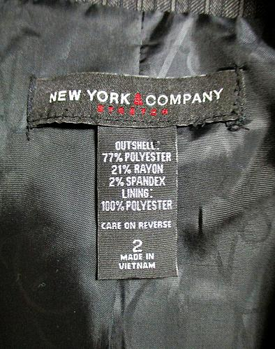 NEW YORK & COMPANY womens Sz 2 L/S gray 2 pocket FULLY LINED jacket (A3)