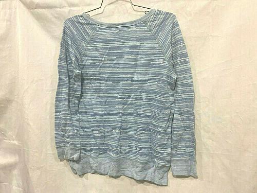 Faherty Men's Size Small Crewneck Blue Indigo Long Sleeve Pullover Sweatshirt
