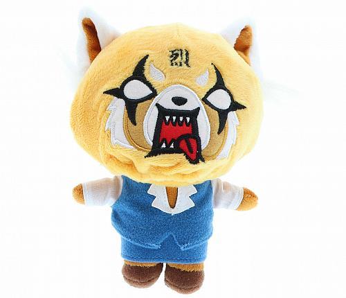 "New Kidrobot Aggretsuko Plush Reversible 5.75""Hx 2.75""L x5""W Sanrio Hello Kitty"