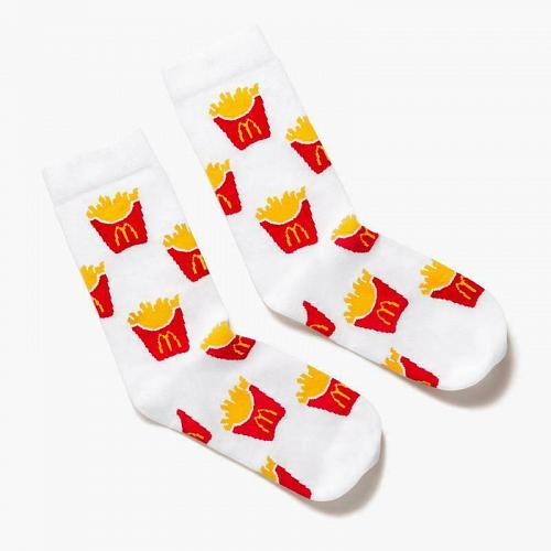 New Mcdonald World Famous Fries Pattern Socks One Size Fits most Free Shipping