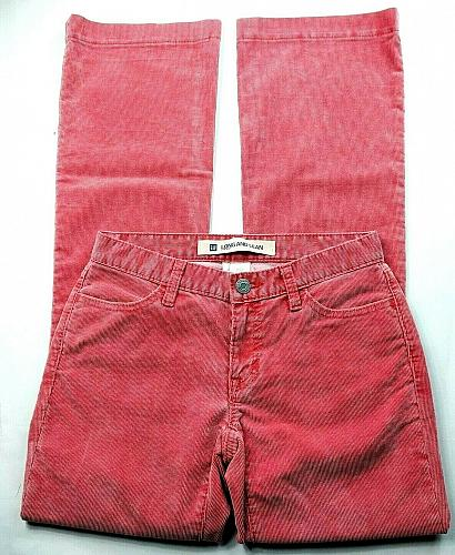 GAP Women's Long And Lean Corduroy Boot Cut Pants Size 1R Solid Red Stretch