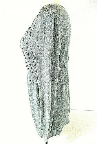LIZ LANGE womens Large L/S gray MATERNITY sweater (B4)