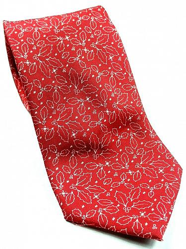Christmas Holly All Over Print Novelty Necktie