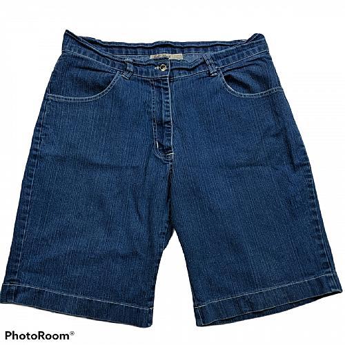 Gold Flava Womens Jean Shorts Size 14 Denim Blue Dark Wash