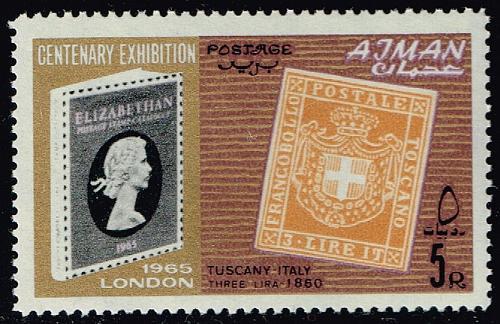 Ajman #44 Tuscany Stamp; MNH (4Stars) |AJM0044-01XRS