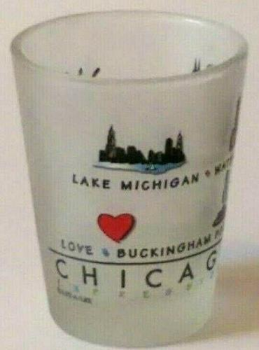 "Chicago Lake Michigan Sears Tower 2.25"" Collectible Frosted Shot Glass"