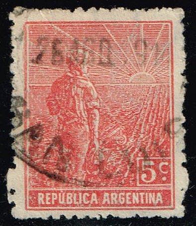 Argentina #194 Farmer and Rising Sun; Used (0.30) (3Stars) |ARG0194-05XBC