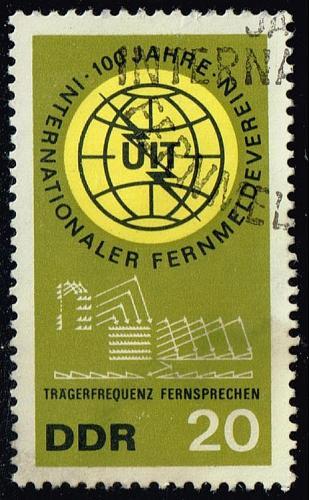 Germany DDR #771 ITU Centenary; CTO (0.25) (1Stars)  DDR0771-03