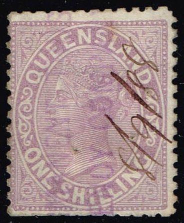 Australia-Queensland #70 Queen Victoria; Used (7.25) (1Stars) |QUE070-02XRS