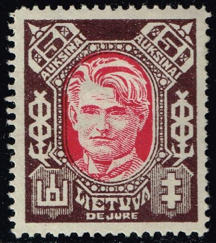 Lithuania #118B Kazys Grinius; Unused (4Stars)  LIT0118B-01XRP