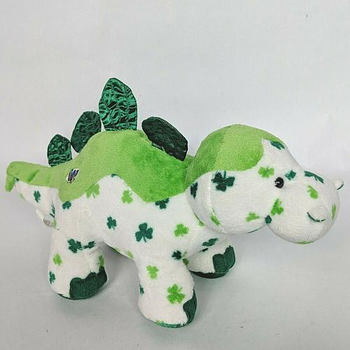 "Ganz Webkinz St Patricks Day Lucky Dino Shamrock HM712 Stuffed Animal 11.25"""