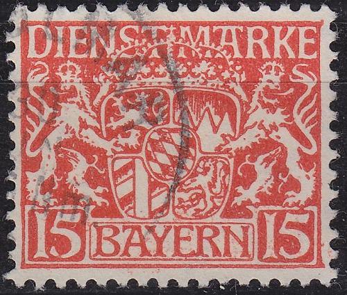 GERMANY Bayern Bavaria [Dienst] MiNr 0027 y ( O/used )