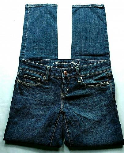 American Eagle Women's Skinny Jeans Size 0 Short Stretch Medium Wash Denim