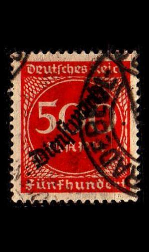 GERMANY REICH Dienst [1923] MiNr 0081 ( O/used )