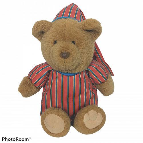 "Vtg Avon Sleepy Sherman Pajama Talking Teddy Bear Plush Stuffed Animal 18"""