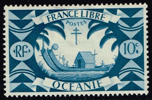 French Polynesia #137 Ancient Double Canoe; Unused (0.40) (2Stars) |FRP0137-02