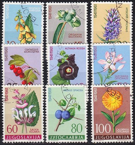 JUGOSLAVIA [1961] MiNr 0943-51 ( O/used ) Pflanzen