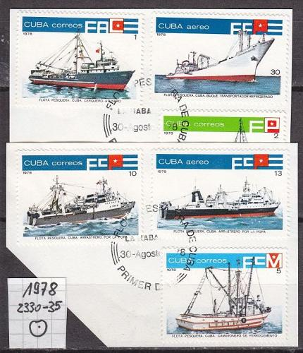 KUBA CUBA [1978] MiNr 2330-35 ( O/used ) Schiffe
