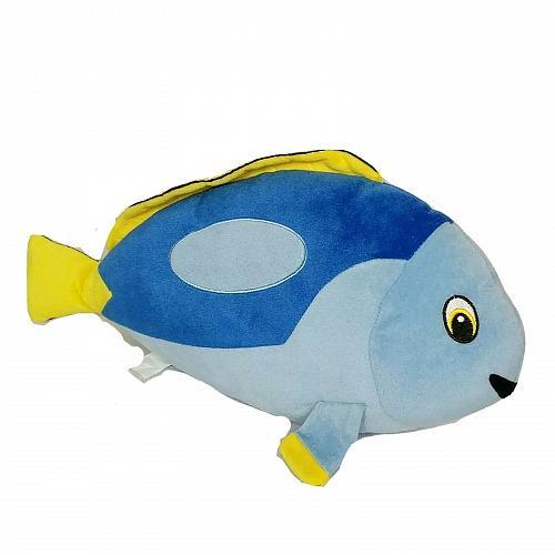 "Blue Yellow Fish Sea Marine Ocean Life Plush Stuffed Animal 19"""
