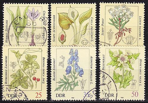 GERMANY DDR [1982] MiNr 2691-96 ( OO/used ) Pflanzen
