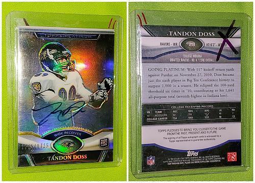 NFL Tandon Doss Minnesota Vikings Autographed 2011 Topps Platinum RC /1725 Mnt