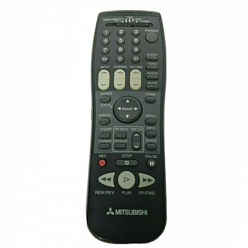 Genuine Mitsubishi TV VCR Universal Remote Control EUR647020 Tested Works