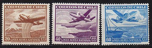 CHILE [1950] MiNr 0448 ex ( */mh ) [01] Flugzeuge