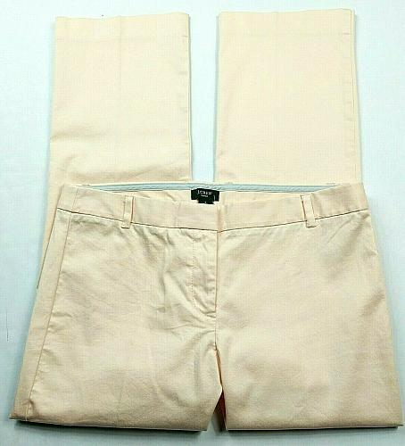 J Crew Womens City Fit Straight Leg Pants Size 4 Solid Orange Peach Stretch