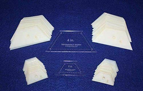 "Mylar 2"" Half Hexagon & 4"" Half Hexagon 102 Piece Set - Quilting / Sewing Templa"