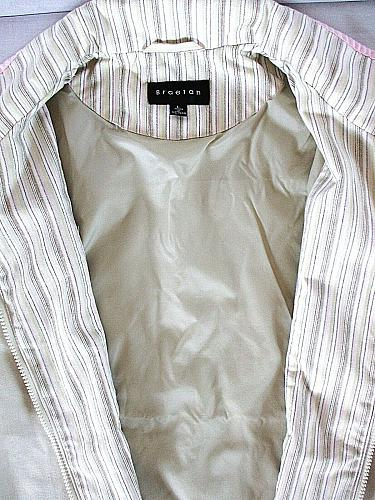 BRAETON WOMENS Large L/S ivory 3 POCKET full zip FULLY LINED jacket (A4)