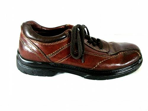 Johnston Murphy Brown Leather Lace Up Casual Oxfords Shoes Men's 8.5 M (SM1)