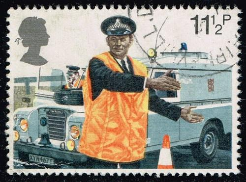 Great Britain #876 Constable Directing Traffic; Used (0.25) (2Stars)  GBR0876-01XVA