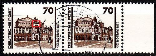 GERMANY DDR [1990] MiNr 3348 II 2er ( OO/used ) Plattenfehler