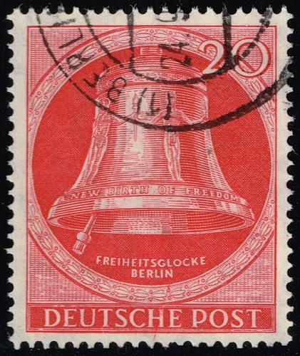 Germany #9N72 Freedom Bell; Used (4Stars)  DEU9N072-01XRP