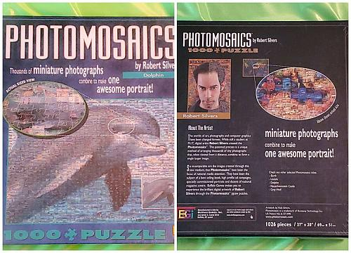 "Brand New Photomosaics by Robert Silvers ""Dolphin"" 1000 piece Jigsaw Puzzle NICE"