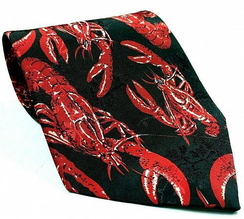 Red Lobster Crayfish Crawdad Seafood Marine Ocean Life Novelty Tie