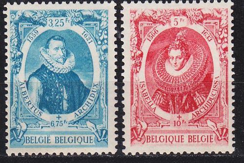 BELGIEN BELGIUM [1942] MiNr 0609-10 ( **/mnh )