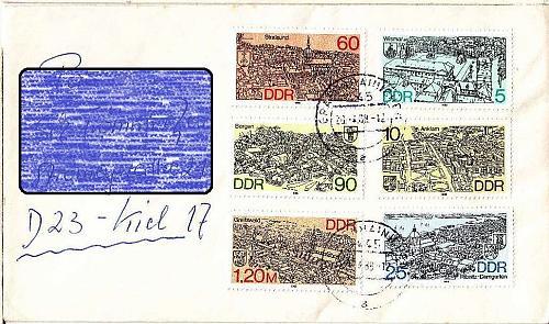 GERMANY DDR [1988] MiNr 3161-66 ( Brief )