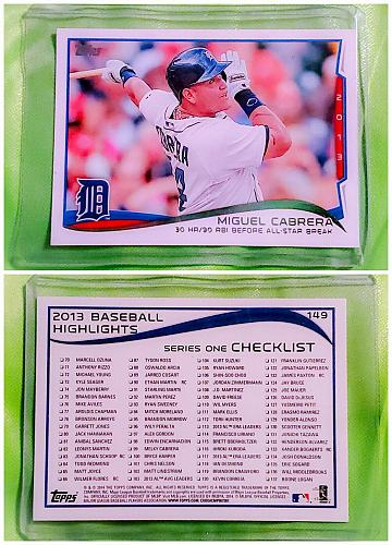 MLB MIGUEL CABRERA DETROIT TIGERS 2014 TOPPS SERIES 1 #149 MINT