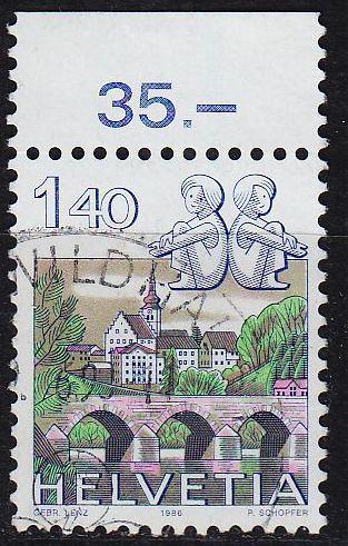 SCHWEIZ SWITZERLAND [1986] MiNr 1314 ( O/used ) Tierkreis