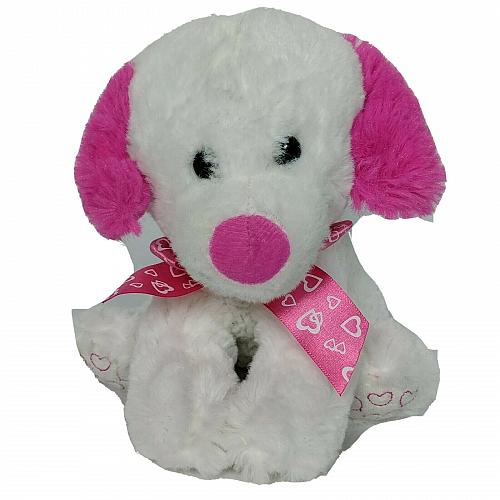 Goffa International Valentine Dog Heart Plush Stuffed Animal 6.5""